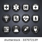 health care and medicine on... | Shutterstock .eps vector #337072139