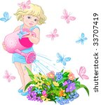 vector illustration of a cute...   Shutterstock .eps vector #33707419