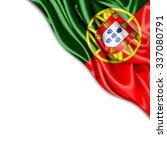 portugal  flag of silk with... | Shutterstock . vector #337080791