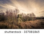 hunting tower in rough nature... | Shutterstock . vector #337081865