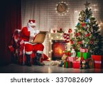 Portrait Of Santa Claus Sittin...