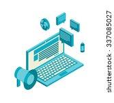 isometric design modern... | Shutterstock . vector #337085027