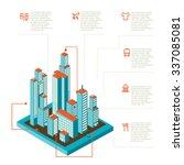 isometric illustration of... | Shutterstock . vector #337085081