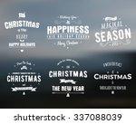 merry christmas lettering... | Shutterstock .eps vector #337088039