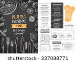 vector christmas restaurant... | Shutterstock .eps vector #337088771