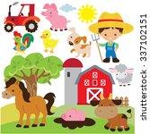 farm vector illustration   Shutterstock .eps vector #337102151