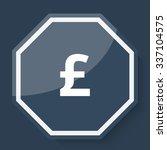white pound icon on plum blue... | Shutterstock .eps vector #337104575