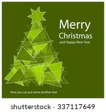 vector christmas tree with... | Shutterstock .eps vector #337117649
