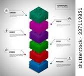 lego block infographic concept... | Shutterstock .eps vector #337119851