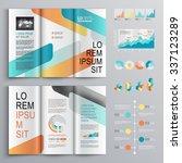 white brochure template design... | Shutterstock .eps vector #337123289