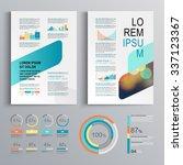 white brochure template design... | Shutterstock .eps vector #337123367