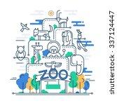 illustration of vector modern... | Shutterstock .eps vector #337124447