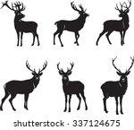 deer  deer figure  vector ... | Shutterstock .eps vector #337124675