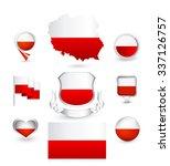 Poland Flag Collection. Vector...