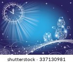 new year background with clock