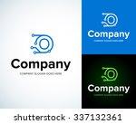 modern stylish logo with letter ...   Shutterstock .eps vector #337132361