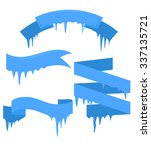 set of vector ribbons with... | Shutterstock .eps vector #337135721