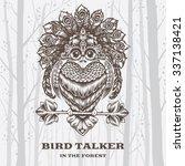 vector illustration bird talker ... | Shutterstock .eps vector #337138421