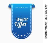 winter offer blue vector icon... | Shutterstock .eps vector #337139129