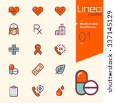 lineo colors   medical and... | Shutterstock .eps vector #337145129