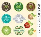 gmo free non gmo and organic... | Shutterstock .eps vector #337145849