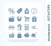 shopping icons | Shutterstock .eps vector #337147595