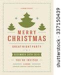 christmas party poster retro... | Shutterstock .eps vector #337150439