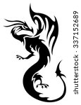 tattoo in tribal style....   Shutterstock .eps vector #337152689
