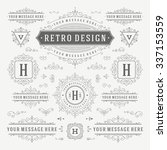 vintage vector ornaments... | Shutterstock .eps vector #337153559