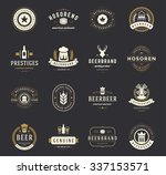 set beer logos  badges and... | Shutterstock .eps vector #337153571