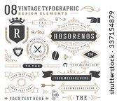 retro vintage typographic... | Shutterstock .eps vector #337154879