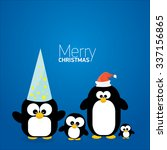 merry christmas card with... | Shutterstock .eps vector #337156865