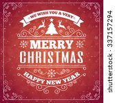 merry christmas card with frame   Shutterstock .eps vector #337157294