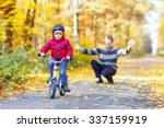 little kid boy of 3 years and... | Shutterstock . vector #337159919