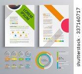 white brochure template design... | Shutterstock .eps vector #337160717