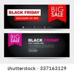 banner design black friday for... | Shutterstock .eps vector #337163129