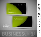 business card template with... | Shutterstock .eps vector #337168127