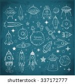 collection of sketchy space... | Shutterstock .eps vector #337172777
