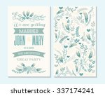 wedding invitation  thank you... | Shutterstock .eps vector #337174241
