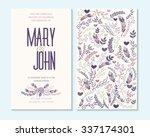 wedding invitation  thank you... | Shutterstock .eps vector #337174301