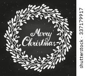 merry christmas with vintage... | Shutterstock .eps vector #337179917