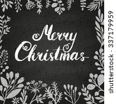 merry christmas card with... | Shutterstock .eps vector #337179959
