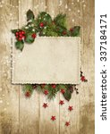 Christmas Vintage Card With...