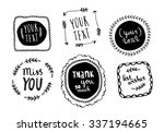 Set Of Hand Drawn Frames With...