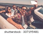 selfie again  group of young... | Shutterstock . vector #337195481