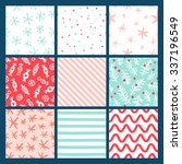 9 winter holidays seamless... | Shutterstock .eps vector #337196549