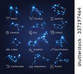 zodiac design. horoscope set ... | Shutterstock .eps vector #337197464