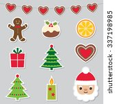 Christmas Stickers Vector Set