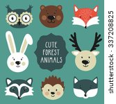 vector set of cute forest... | Shutterstock .eps vector #337208825