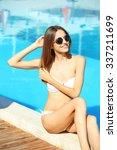 young woman enjoying in... | Shutterstock . vector #337211699
